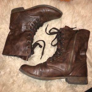 Target Brown Combat Boots
